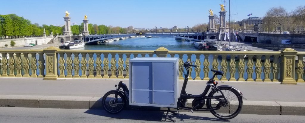 Vélo-cargo dans Paris